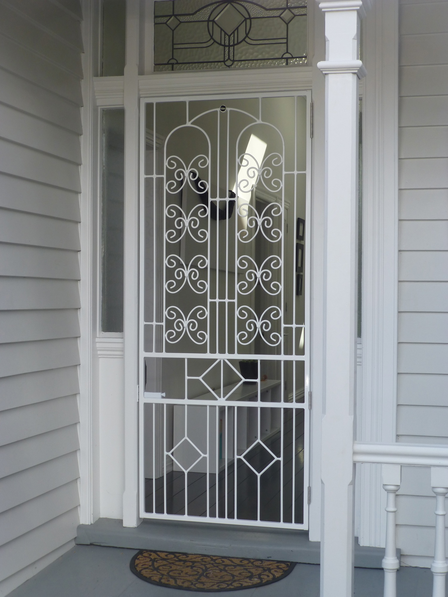 Dora doors designer security doors for Modern zen window grills design